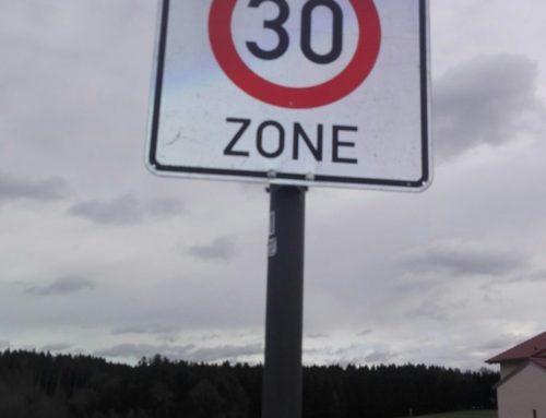 Tempo 30 Zonen in Lohkirchen und Oberbergkirchen