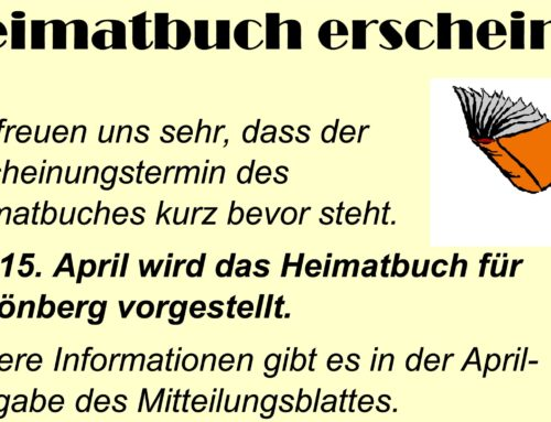 Heimatbuch für Schönberg erscheint