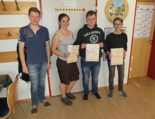 Zangberger Schützenverein ehrte Jugendvereinsmeister