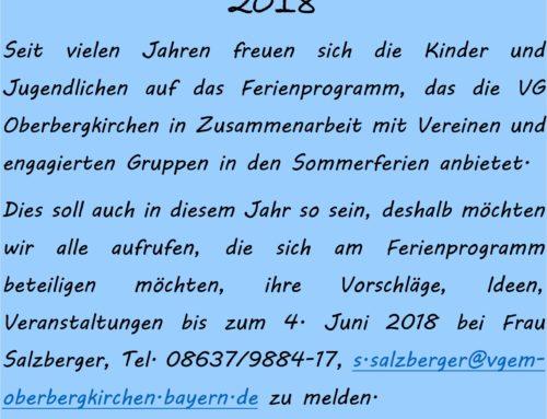 Bericht Ferienprogramm 2018