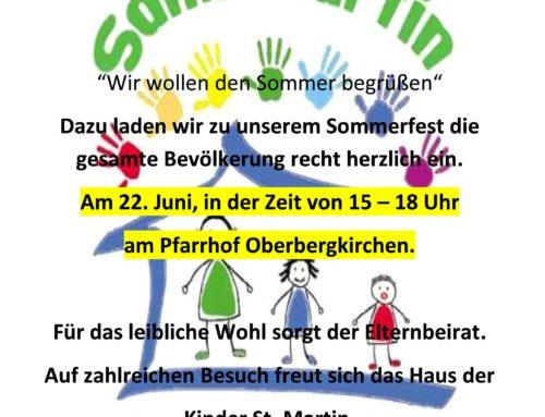 Anzeige Sommerfest Haus der Kinder-06-2018