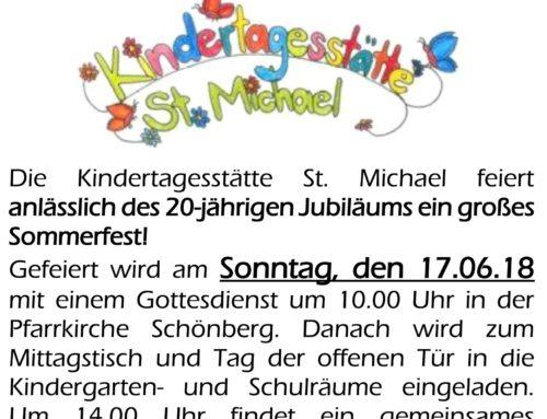 Sommerfest der Kindertagesstätte St. Michael, Schönberg