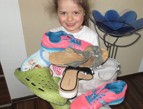 Kita Lohkirchen sammelte Schuhe für Bedürftige