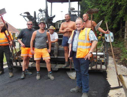 Straßensanierungsarbeiten in der Gemeinde Schönberg