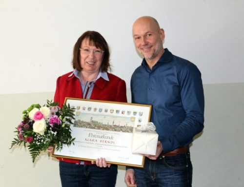 40-jähriges Betriebsjubiläum von Klara Berndl, Ziegelwerk Aubenham