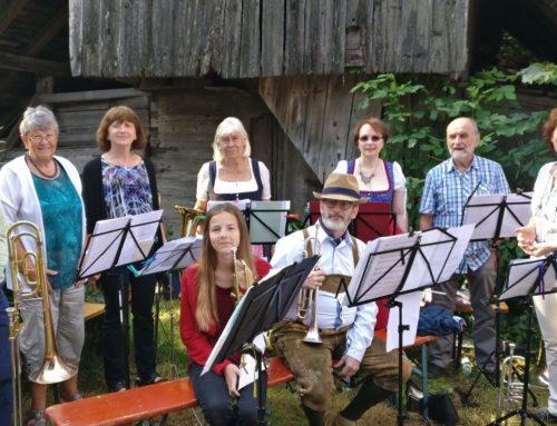 Posaunenchor spielte zur Bergmesse auf