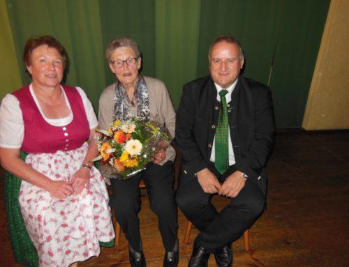 Klara Hobmaier feierte ihren 85. Geburtstag