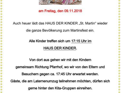 Martinsfeier im Haus der Kinder in Oberbergkirchen