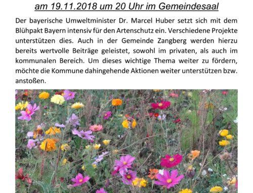 Zangberg blüht auf – Infoveranstaltung der Gemeinde
