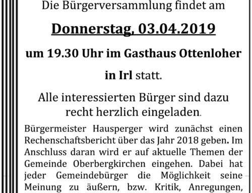 Bürgerversammlung in Oberbergkirchen