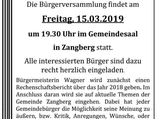 Bürgerversammlung in Zangberg