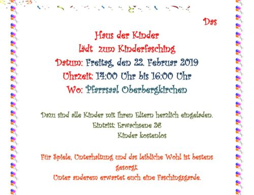 Fasching vom Haus der Kinder St. Martin in Oberbergkirchen
