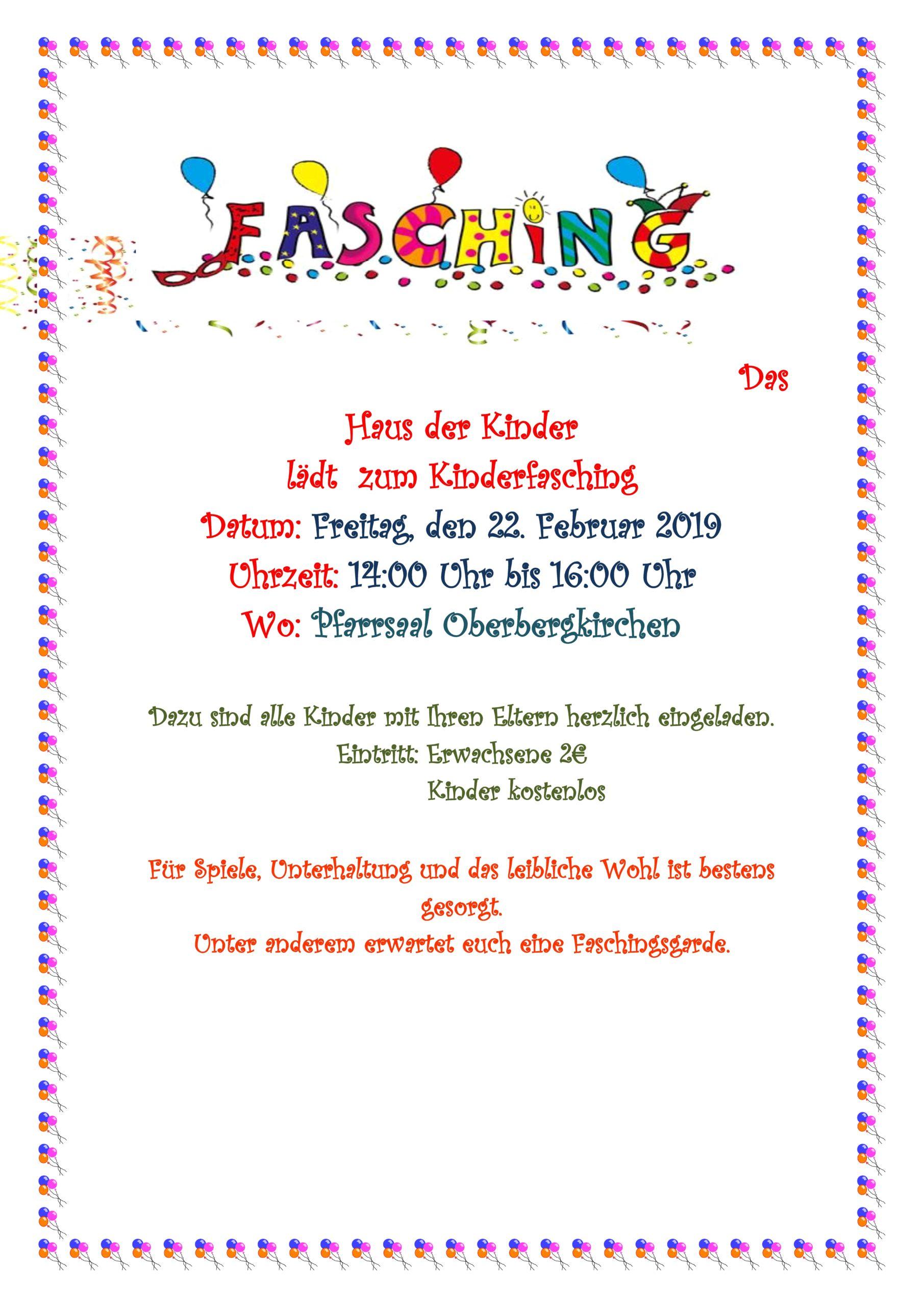 Fasching Vom Haus Der Kinder St Martin In Oberbergkirchen