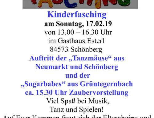 Kinderfasching der Kita Schönberg