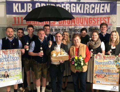 KLJB Oberbergkirchen bat Bürgermeister um Schirmherrschaft für Gründungsfest
