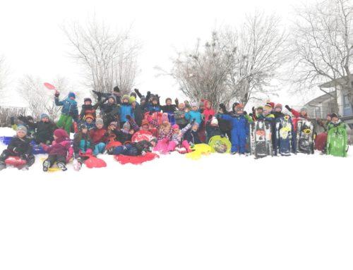 Schulverband Oberbergkirchen verbrachte Tag im Schnee