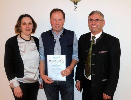 CSU-Ortsverband Oberbergkirchen ehrte langjährige Mitglieder