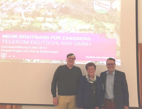 Gemeinde Zangberg und Telekom informieren zum bevorstehenden Breitbandausbau