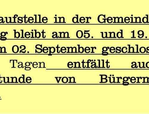 Anlaufstelle in Zangberg geschlossen
