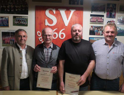 SVO ehrte langjährige Mitglieder