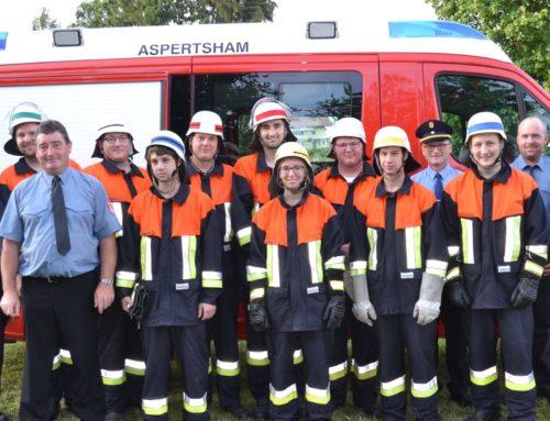 Aspertshamer Feuerwehr top ausgebildet