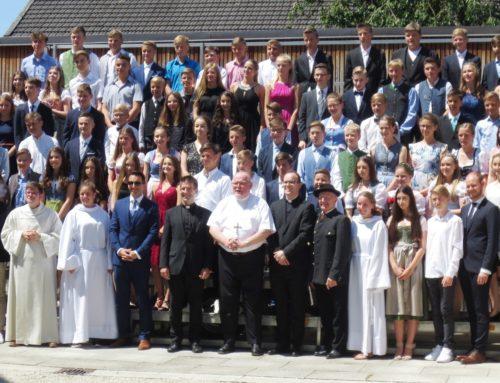 Firmung junger Zangberger Christen