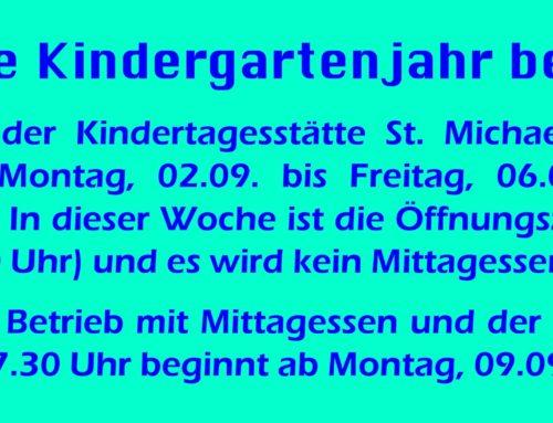 Kita Schönberg startet ins neue Kindergartenjahr
