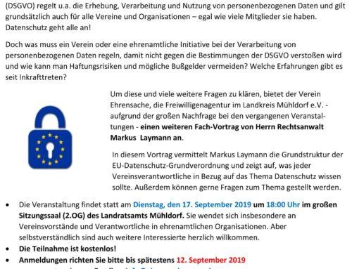 Info-Veranstaltung zur Datenschutzgrundverordnung im Landratsamt
