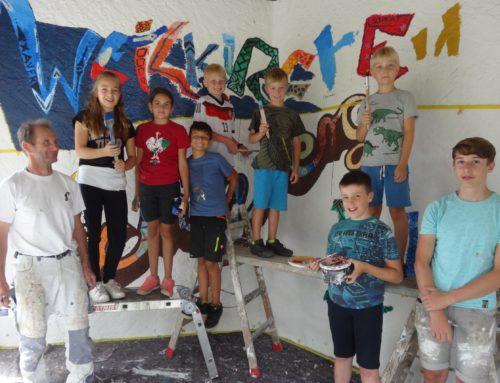 Zangberger Pavillon durch Ferienprogrammaktion verschönert