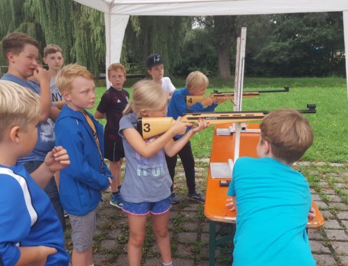 Zangberger Schützen boten Sommerbiathlon beim Ferienprogramm an