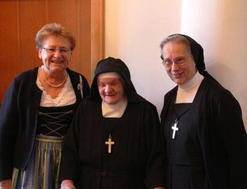 Sr. Walburga aus dem Kloster Zangberg feierte hohes Wiegenfest
