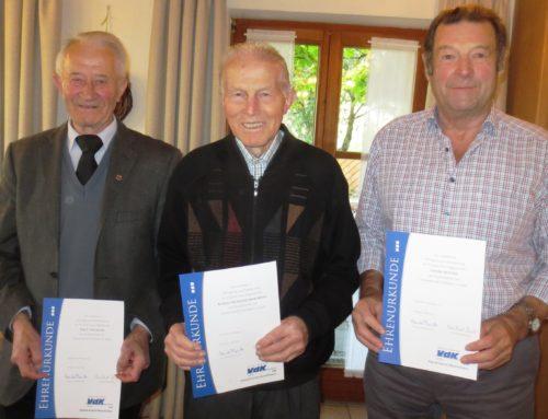 VdK Ortsverband Lohkirchen ehrte langjährige Mitglieder