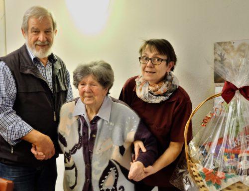 Adelheid Stey feierte 90. Geburtstag