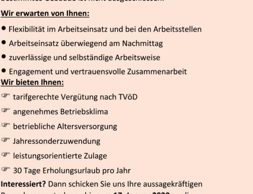 Verwaltungsgemeinschaft Oberbergkirchen sucht Reinigungskraft