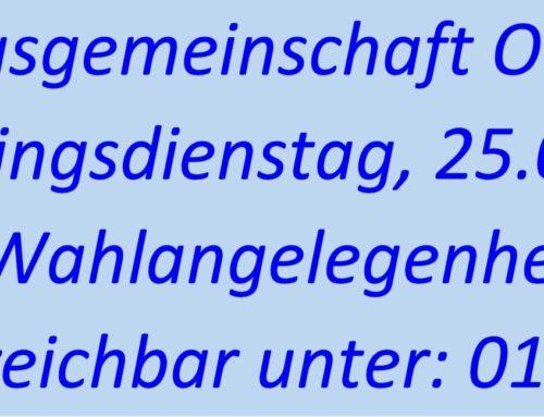 Verwaltungsgemeinschaft Oberbergkirchen bleibt am Faschingsdienstag geschlossen