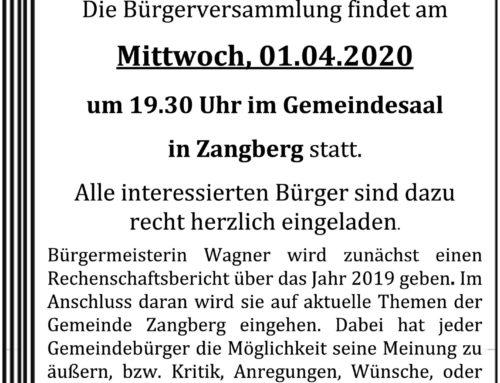 Bürgerversammlung Zangberg