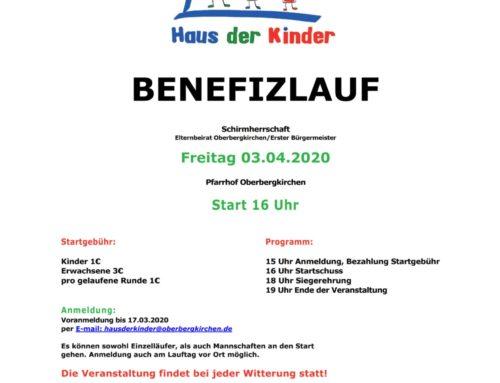 Haus der Kinder St. Martin Oberbergkirchen veranstaltet Benefizlauf