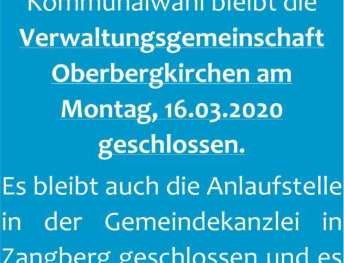 VG Oberbergkirchen geschlossen am 16.03.2020