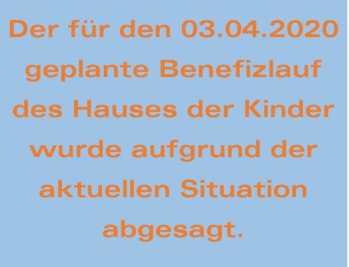 Benefizlauf des Hauses der Kinder Oberbergkirchen abgesagt