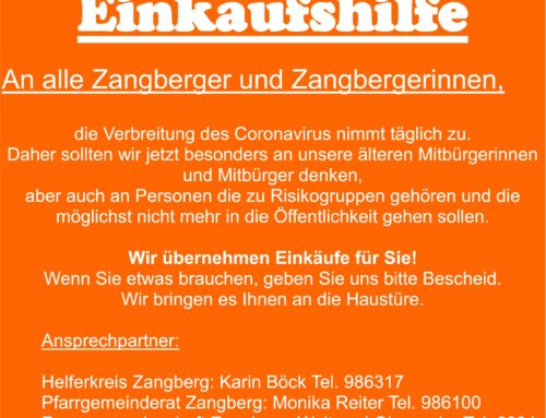 Einkaufshilfe in der Gemeinde Zangberg