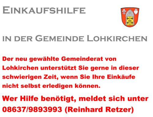 Einkaufshilfe in der Gemeinde Lohkirchen