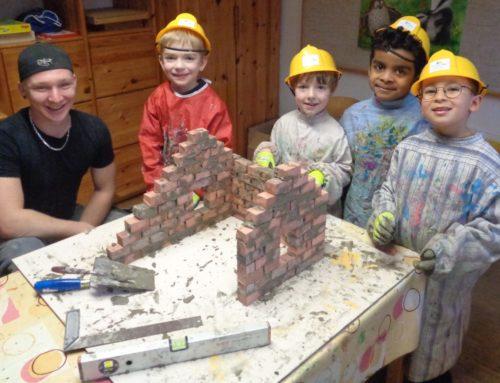 Haus der Kinder Oberbergkirchen hielt Baustellenprojekt ab