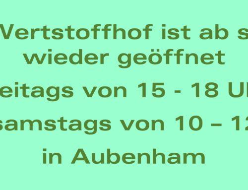 Wertstoffhof Oberbergkirchen wieder geöffnet