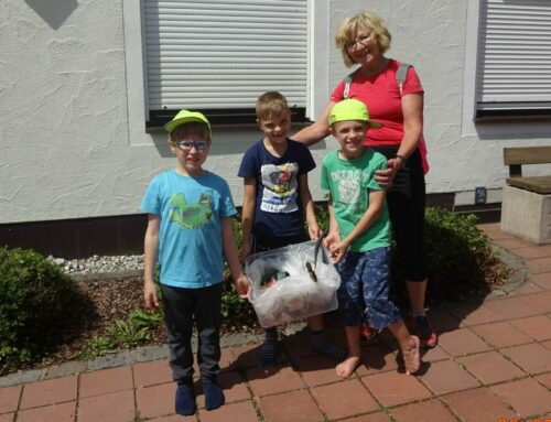 Müllsammelaktion in der Gemeinde Schönberg unternommen