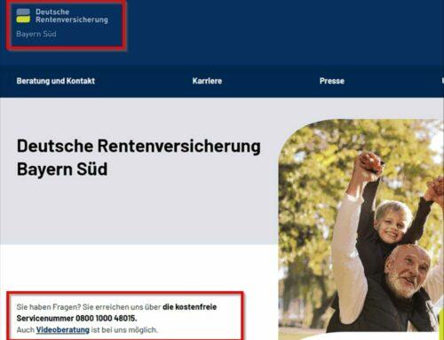 Rentenversicherung Bayern Süd setzt Beratungstermine bis 31.03.2021 aus