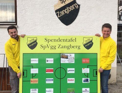 SpVgg Zangberg dankt Gönnern des Jugendfußballs