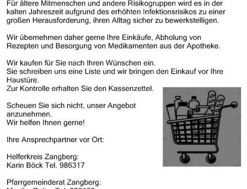 Einkaufshilfe Zangberg