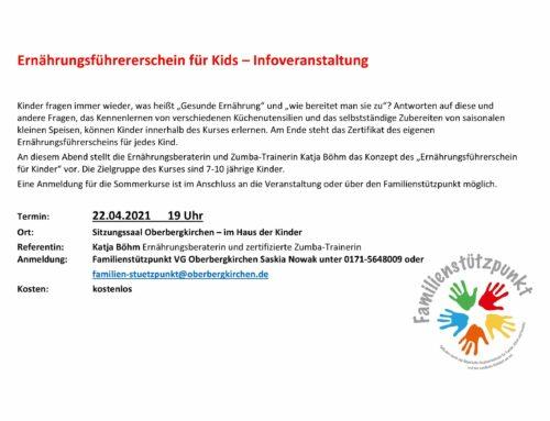 Ernährungsführerschein für Kids im Familienstützpunkt der VGem Oberbergkirchen