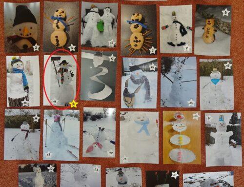 Schneemannwettbewerb der Kita Lohkirchen