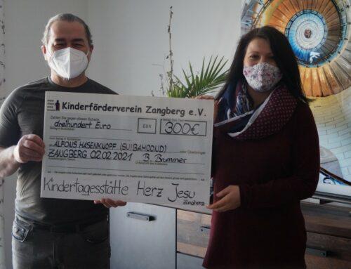 "Kita Herz Jesu aus Zangberg spendete für ""Suibamond"""